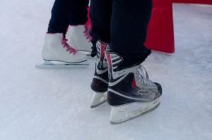 アイススケートでの怪我